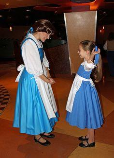 Belle,Little Girls With Disney Princesses