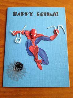 Spiderman birthday card 350 via etsy 3rd birthday ideas spiderman birthday card on etsy 400 bookmarktalkfo Gallery