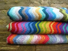I always love the #crochet ripple blankets by Attic 24