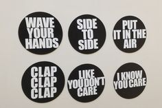 7/11  Beyonce Lyrics 6 Piece Magnets Sets: by NostalgiaCollect