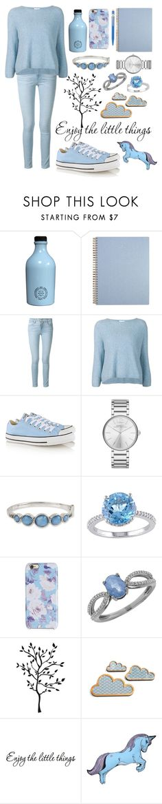 """""""Baby blue"""" by abecic ❤ liked on Polyvore featuring Frame Denim, 3.1 Phillip Lim, Converse, Marc by Marc Jacobs, Kenneth Cole, Isaac Mizrahi, Lord & Taylor, Silken Favours and Caran D'Ache"""