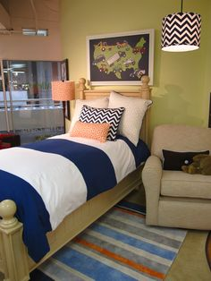 Skate Park bedding on Newport Country Twin Bed at Doodlefish Kids at Atlanta market