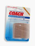 Johnson&Johnson Coach Adhering Elastic Bandage 2?X5y-1 by JOHNSON & JOHNSON HEALTHCARE.. $3.11. SKU NUMBER: 497586The Mininimum EXP date on product:1Year.TITLE DESCRIPTION: Johnson & Johnson Coach Self-Adhering Elastic Bandage 2 inch width X 5 yards - 1 ea  MANUFACTURER: FREEMAN BEAUTY LABSPRODUCT DESCRIPTION: COACH Self Adhering Elastic Bandage helps you quickly return to normal everyday activity by providing excellent support and compression to strains, sprai...