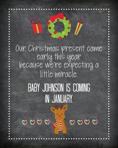 Christmas Pregnancy Announcement, Baby Announcement Wine Bottle Label, Custom Wine Label Pregnancy, Holiday Baby Announcement