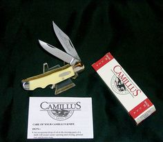 """Camillus 707 Lockback Knife """"Yello Jaket"""" 3-3/4"""" Closed 1990's W/Package,Papers @ ditwtexas.webstoreplace.com"""
