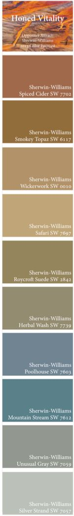 Opposites Attract: Sherwin-Williams 2013 Color Forecast -- Honed Vitality Palette