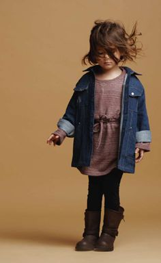Love the denim shirt, tunic and boots! Love it all!