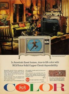 Our first RCA Color TV had the rounded sides picture tube like this one.
