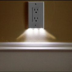 brilliant -  outlet cover that's also a night light. | 23 Insanely Clever Products For Your Small Space