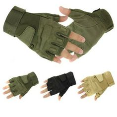 Military Half-finger Fingerless Tactical Airsoft Hunting Riding Cycling Gloves