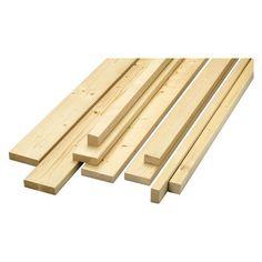 Latte Fichte/Tanne gehobelt gefast 24 mm x 44 mm x 3000 mm Für Balkon Höhe 110cm -> 4 Stück