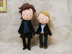 Sherlock Holmes & John Watson plushies - Ah! They're so cute!