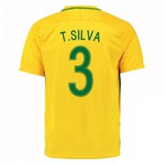 2016 Brazil Soccer Team T.Silva 3 Home Replica Jersey 2016 Brazil Soccer Team T.Silva 3 Home Soccer jerseys|cheap Brazil cheap soccer Jerseys soccer store - $22.99 : Cheap Soccer Jerseys,Cheap Football Shirts