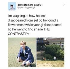 Hoseok and Yoongi Oppa being opposites || Sobi || Yoonseok