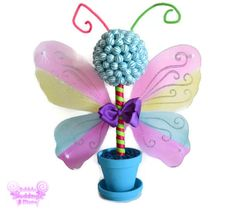 Small Butterfly Lollipop Candy Topiary by EdibleWeddings on Etsy, $54.99
