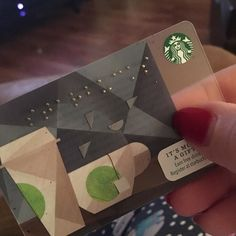 "On instagram by redhairedsarah  #braille #doitbraille (o)  http://ift.tt/1R0KTkI  #Braille #starbuckscard #merrychristmas it says ""Starbucks"" from my parents"
