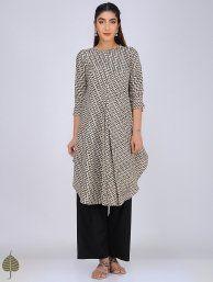 Buy Red Block printed Cotton Kurta Women Kurtas Online at Jaypore.com