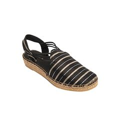 NIGER es un modelo de alpargata cómoda, la seda le otorga elegancia y distinción. Las tiras de goma cosidas a la tela le dan una gran sujeción al pie.