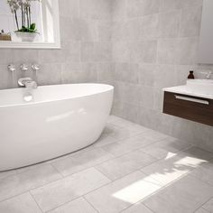Urban Cement Grey Stone effect Ceramic Wall & floor tile, Pack of 5, (L)600mm (W)300mm - B&Q for all your home and garden supplies and advice on all the latest DIY trends