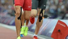 Colourful sports therapy tape gains fame at Olympics