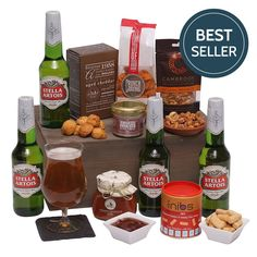 Beers and Bites - Beer Hampers and Gift Baskets - The Perfect Gift For The Man Who Has Everything: Amazon.co.uk: Grocery