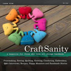 CraftSanity Magazine Issue 9 Print Edition by CraftSanity on Etsy, $12.00