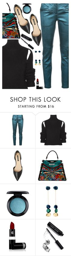"""Study On:  Library Chic"" by juliehooper ❤ liked on Polyvore featuring Sies Marjan, Calvin Klein 205W39NYC, Ava & Aiden, Fendi, MAC Cosmetics, Dinosaur Designs, Lipstick Queen, Bobbi Brown Cosmetics, black and teal"