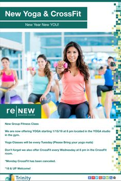 New year, new you! Check out our new yoga class starting next week!
