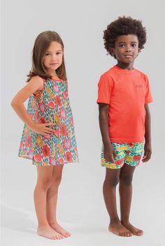 Vestido Izaro, camiseta y Bermuda de baño Ivan - Pan con Chocolate Barefoot Kids, Lily Pulitzer, Chocolate, Spring Summer, Summer Dresses, Fashion, Vestidos, Infant Boy Fashion, T Shirts