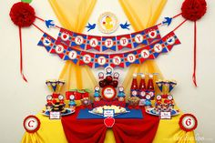 Snow White Birthday Party Package Personalized Printable Design by leelaaloo.com  (love the bluebirds in the garland).