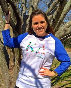 Greek Kappa Delta Baseball Jersey with Lily Pulitzer Letters by HeyYallandCo on Etsy