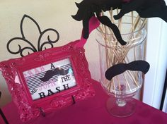 Mustache Girls Bday Party Table I designed this past weekend . Designed by me , SC Events By Jennifer