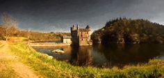 Tableau du château de La Roche lumineux panoramique en Peinture digitale par la Boutique photo déco