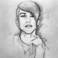 A sketch of ptx a day keeps my obsession at bay  #mitchgrassi #pentatonix #ptx #sketch #portrait #ptxofficial #ptxfanart