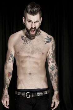 Ricki Hall #tattoo #inked #badass He does shave his chest. Sometimes