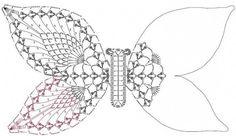 Motyl szydełko