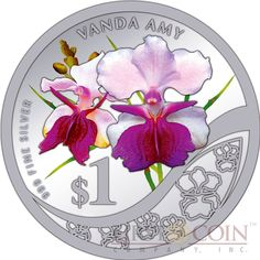 Singapore The Grandeur of Heritage Orchids of Singapore $10 Ten Silver Coin Set 2011 Proof 2.8 oz