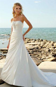 Empire de train tribunal A-ligne sans manches tissée robe de mariée