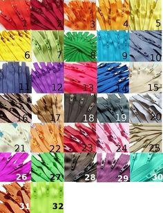 Cheap zippers in a rainbow of colors for sewing and craft projects!