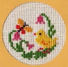 Bird chicken cross stitch.