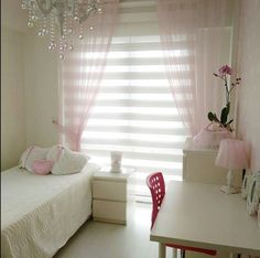 Pretty pink teenage girl room