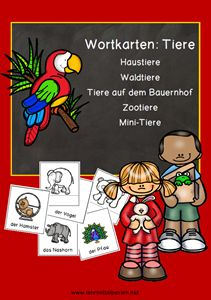 DAZ: Wortkarten Tiernamen