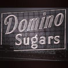Domino sugar neon sign