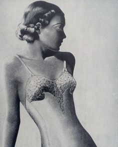 1930s Lingerie Mounted Vogue Clipping : British Vogue April 1937 by onceavogue on Etsy