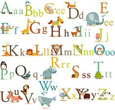 Where can I get this classic animals alphabet baby nursery peel & stick wall art sticker decals! Wall art idea for your baby nursery. Alphabet Wall Decals, Abc Wall, Disney Wall Decals, Alphabet Nursery, Kids Wall Decals, Nursery Wall Decals, Wall Decal Sticker, Nursery Room, Letter Wall