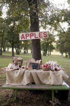 caramel apple vintage wedding favor