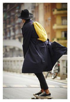 BOTTEGAOTTODUE www.bottegaottodue.it #rucksack #wool #streetstyle #bottegaottodue