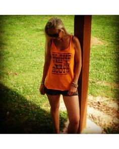 Womens Blame it All on My Roots Tank - Mandarin,
