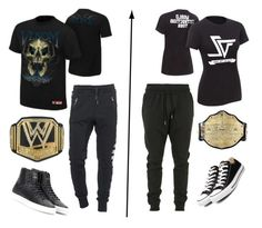 """ORTON VS ZIGGLER"" by bianca-cazacu ❤ liked on Polyvore featuring True Religion, Venom, Givenchy, Converse, Blood Brother, men's fashion and menswear"
