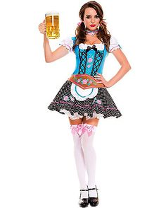 Miss Oktoberfest Plus Size Womens Costume - There's two reasons October is the best month, Halloween and Okotberfest. Get into the spirit of both in the Miss Oktoberfest Plus Size Women's Costum Sexy Halloween Costumes, Girl Costumes, Costumes For Women, Adult Halloween, Maid Halloween, Oktoberfest Halloween, Oktoberfest Beer, Party Costumes, Spirit Halloween